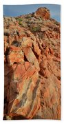 Sunrise On Colorful Sandstone In Valley Of Fire Beach Towel