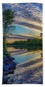 Sunrise Over The Champlain Canal Beach Towel