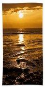 Sunrise Over The Sea Beach Towel
