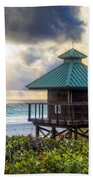 Sunrise Tower At The Beach Beach Towel