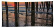 Sunrise Under The Pier Beach Towel
