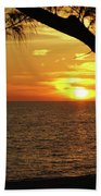 Sunset 2 Beach Sheet by Megan Cohen
