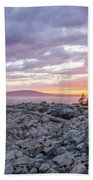 Sunset Acdia National Park  Beach Towel