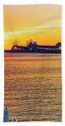 Sunset Across The Chesapeake Beach Towel