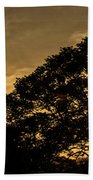 Sunset And Trees - San Salvador Beach Towel