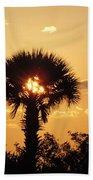 Sunset At Clearwater Beach Beach Towel
