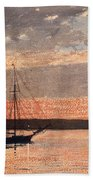 Sunset At Gloucester Beach Towel