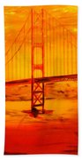 Sunset At Golden Gate Beach Towel