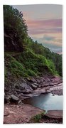 Sunset At Kaaterskill Beach Towel