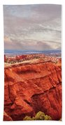 Sunset At Kodachrome Basin State Park Panorama Beach Towel