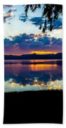 Agency Lake Sunset, Oregon Beach Towel