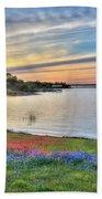 Sunset At Lake Buchanan Beach Towel