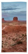 Sunset At Monument Valley No.2 Beach Towel
