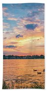 Sunset At Morse Lake Beach Towel