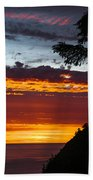 Sunset At Oswald West Beach Towel
