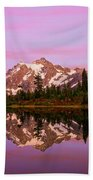 Sunset At Picture Lake Beach Towel