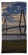 Sunset At Ravenel Bridge Beach Towel