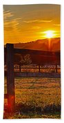 Sunset At Scartaglen Ireland Beach Towel