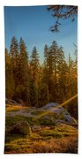 Sunset At Sequoia Beach Towel
