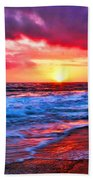 Sunset At Strands Beach Beach Towel