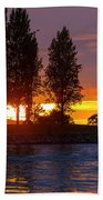 Sunset At Sunset Beach In Vancouver Bc Beach Towel