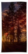 Sunset At The End Of The Hike Beach Towel