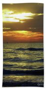 Sunset At The Gulf Beach Towel