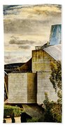 sunset at the marques de riscal Hotel - frank gehry - vintage version Beach Towel