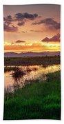 Sunset At Whitewater Draw Beach Towel