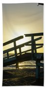 Sunset Behind A Lifeguard Station On Venice Beach Ca Beach Towel