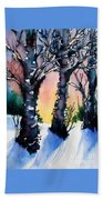 Sunset Birches On The Rise Beach Towel