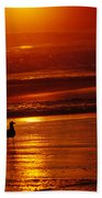 Sunset Bird 2 Beach Towel