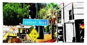 Sunset Blvd Beach Towel