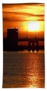 Sunset Bridge Beach Towel