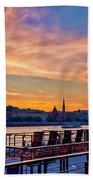 Sunset Budapest Beach Towel
