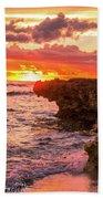 Sunset Cliff Beach Towel