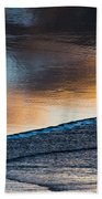 Sunset Clouds Reflect Beach Towel