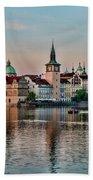 Sunset Cruise Prague Beach Towel