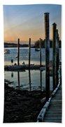 Sunset Dock Beach Towel