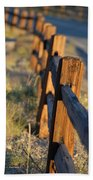 Sunset Fence Beach Towel