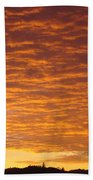Sunset Fiery Orange Sunset Art Prints Sky Clouds Giclee Baslee Troutman Beach Towel
