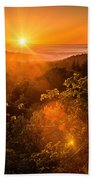 Sunset Fog Over The Pacific #2 Beach Towel