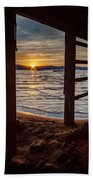 Sunset From Beneath The Pier Beach Towel