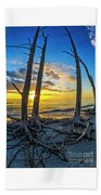 Sunset From Lovers Key, Florida Beach Towel