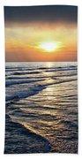Sunset From Newport Beach Pier Beach Towel