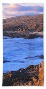Sunset Glow Along Pacific Coast Beach Towel