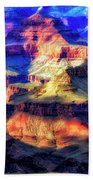 Sunset Glow At Mather Point Beach Towel