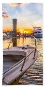 Sunset Harbor Beach Towel
