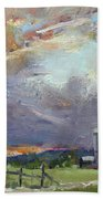 Sunset In A Troubled Weather Beach Towel
