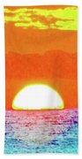 Sunset In Abstract 500 Beach Sheet